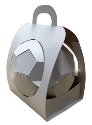 Fotbalový míč od CARDBOX Packaging