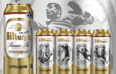 Speciální edice nápojových plechovek k fotbalovému mistrovství
